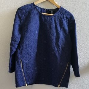 J. Crew Top with Front Side Zippers